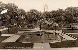 Kent, Folkestone, The Lily Pond, Kingsnorth Gardens